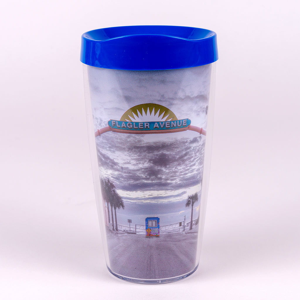 Flagler Avenue Tumbler with Blue Top
