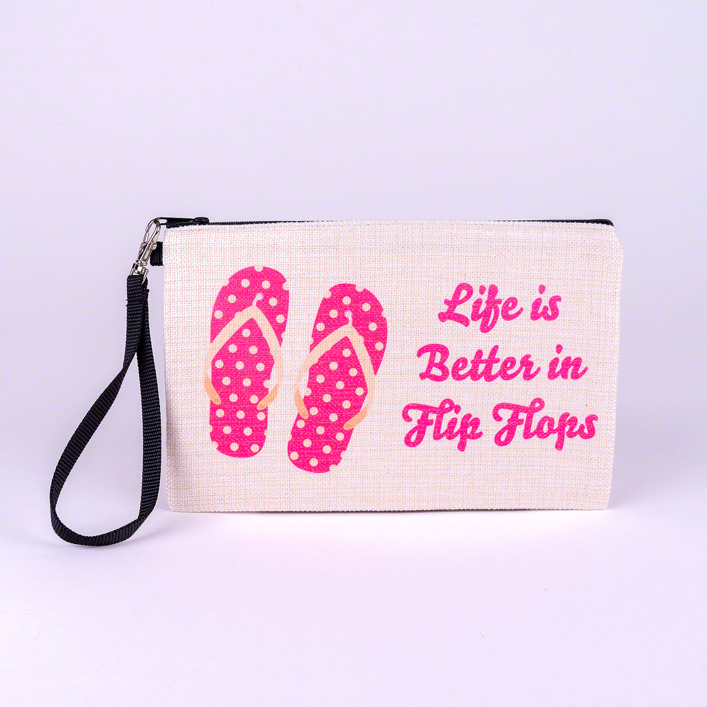 Large Zipper Bag-Flip Flops