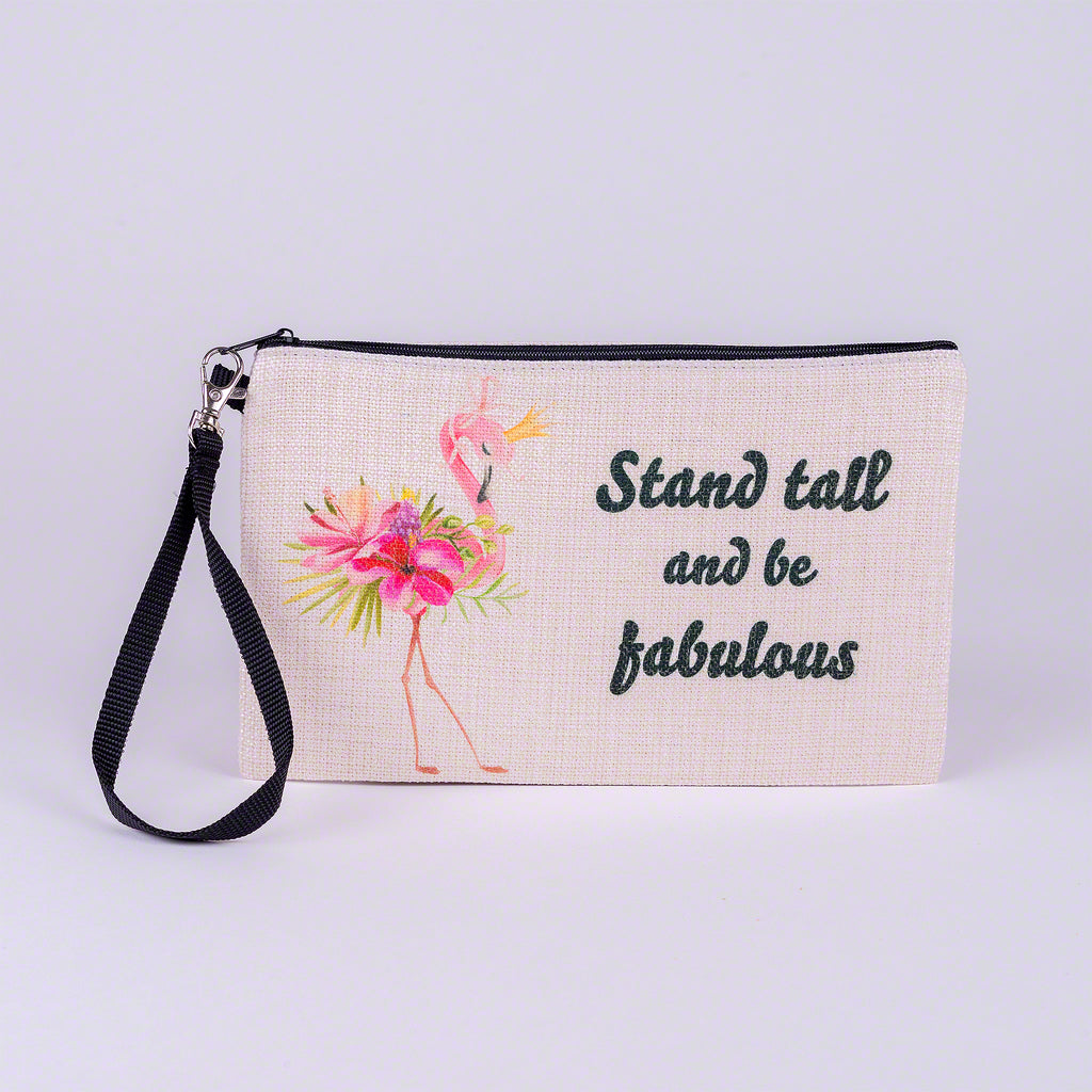 Large Zipper Bag-Flamingo Flower