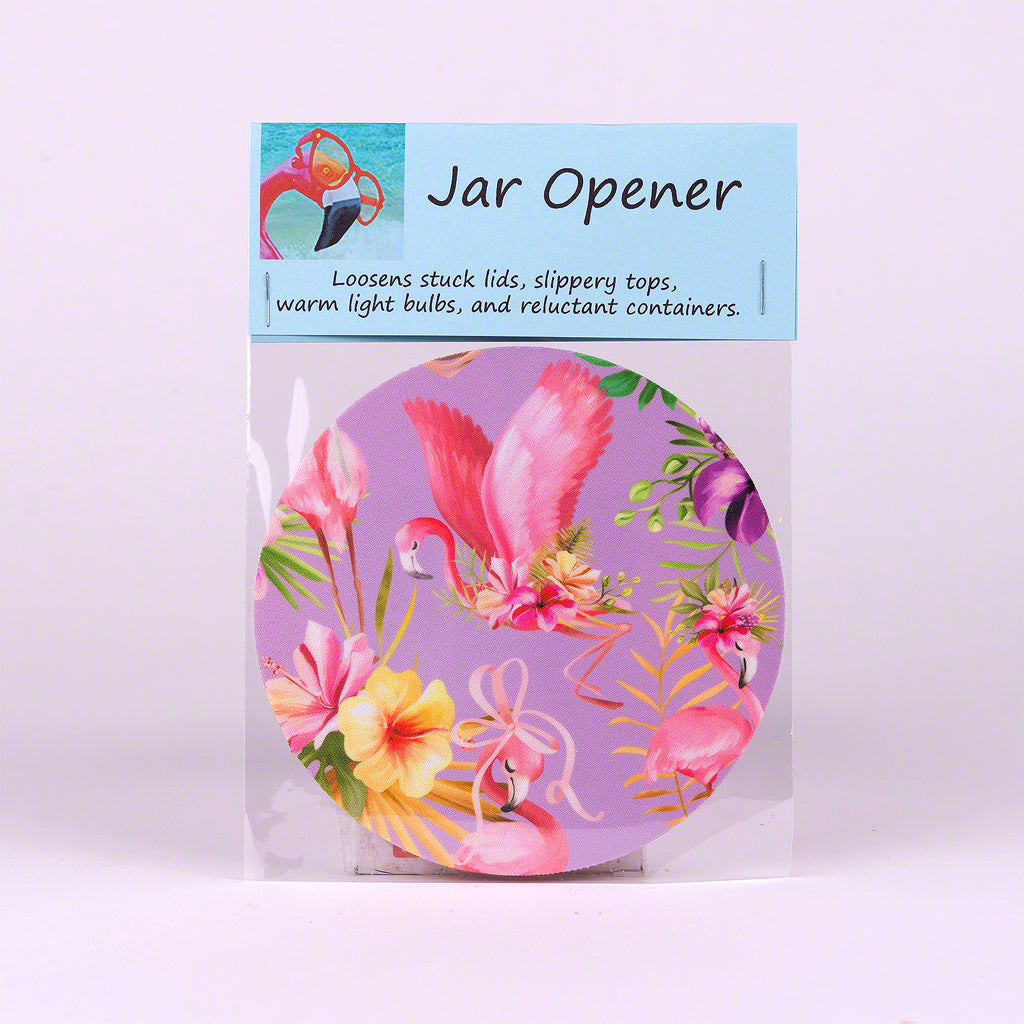 Purple Flamingo Jar Opener