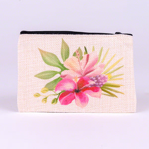 Small Zipper Bag-Flamingo Flower