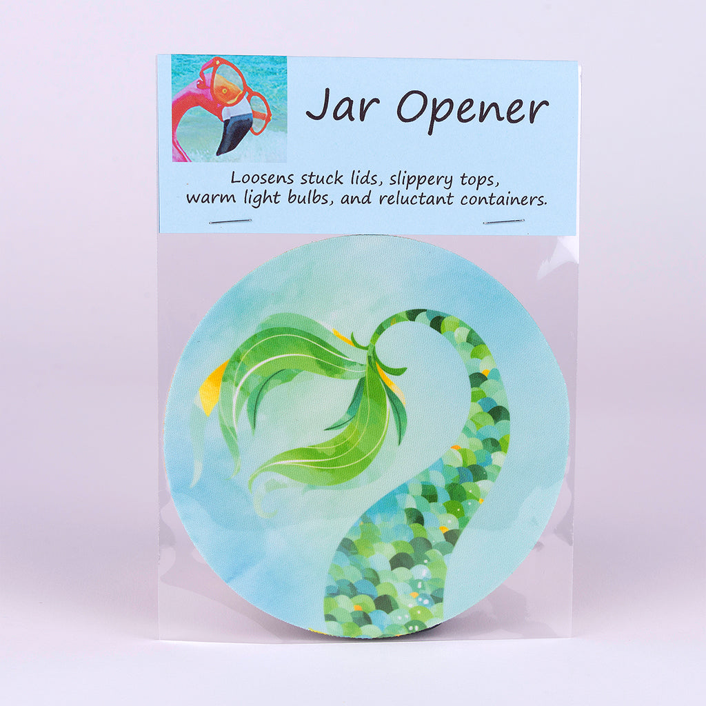 Rubber Jar Opener with Green Mermaid Tail