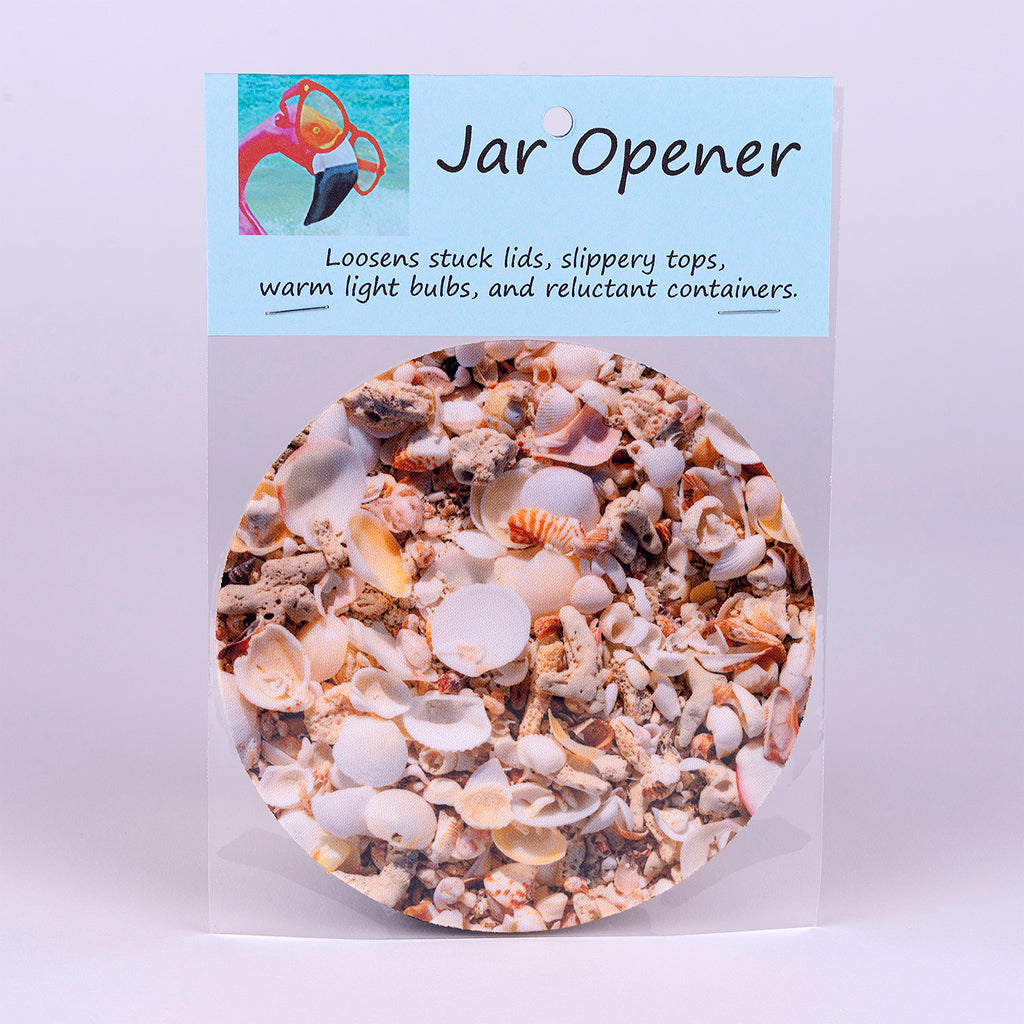 Rubber Jar Opener with Cluster of Shells