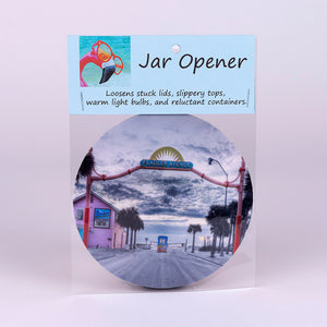 Rubber Jar Opener with Flagler Avenue Entrance Image in New Smyrna Beach, Florida