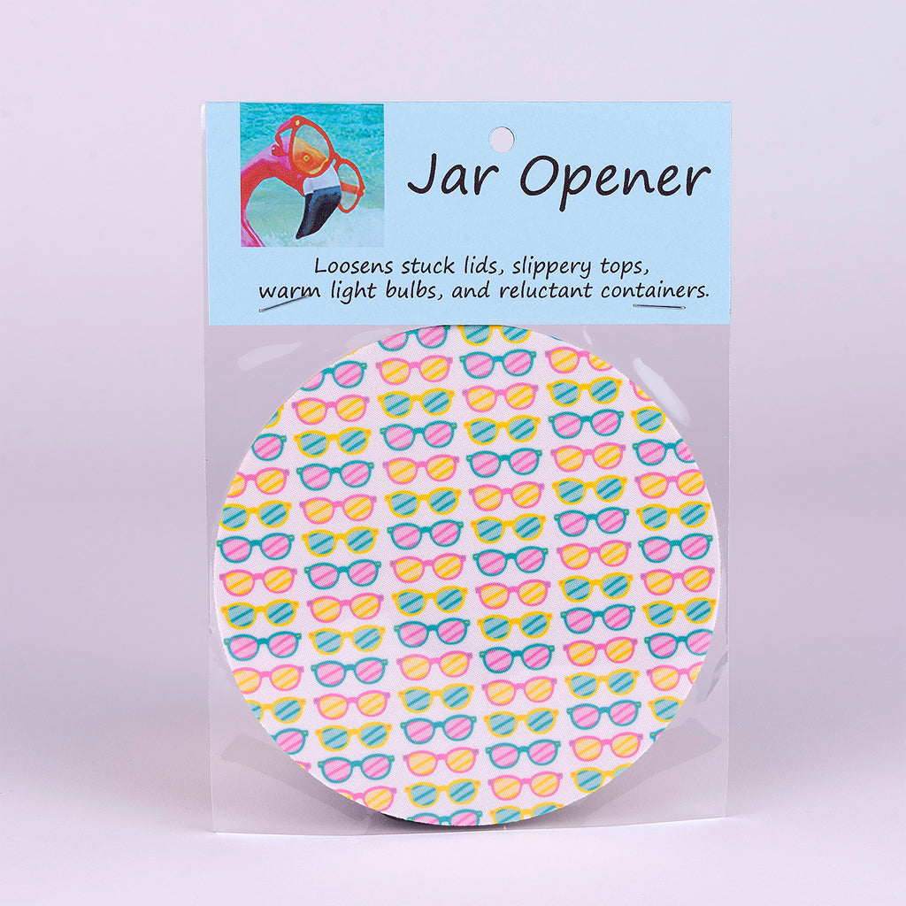 Rubber Jar Opener with Lots of Colorful Sunglasses