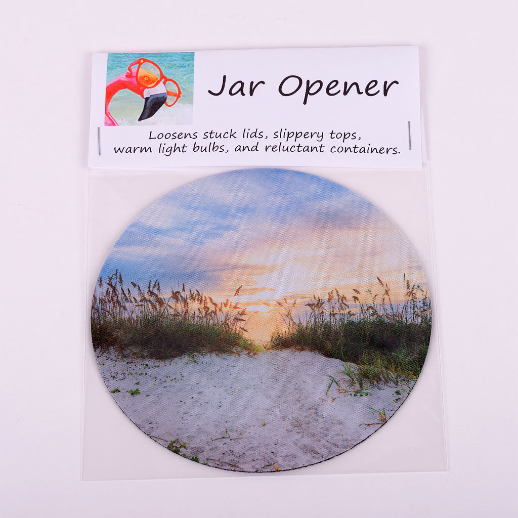 "5"" Jar Opener of the beach entrance in New Smyrna Beach"