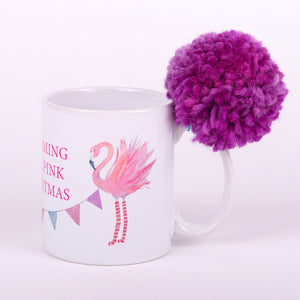 Flamingo Christmas Coffee Mug 2 (White)