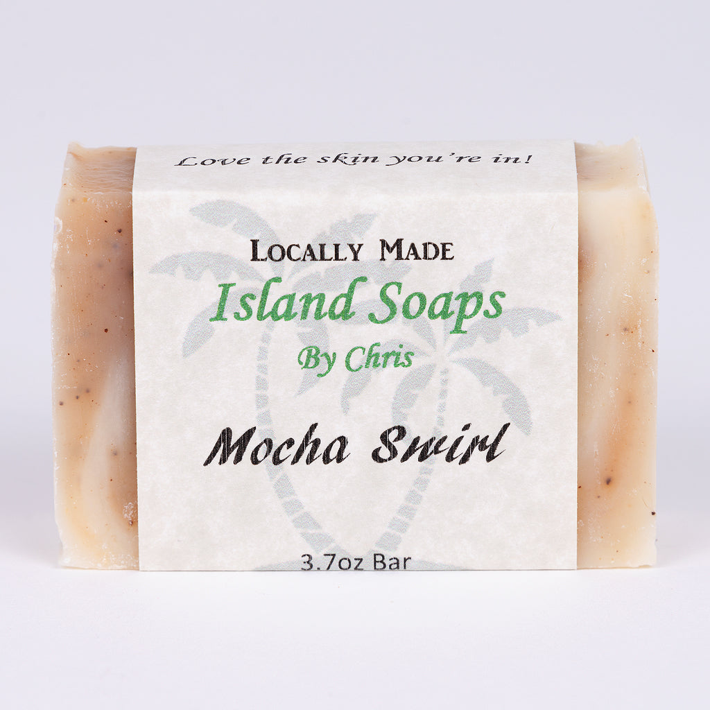 Handmade Local Soap-Mocha Swirl (3.7 oz)
