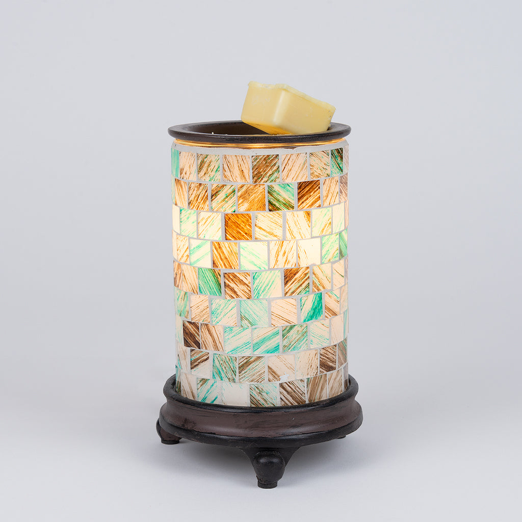 Seaglass table top candlewarmer