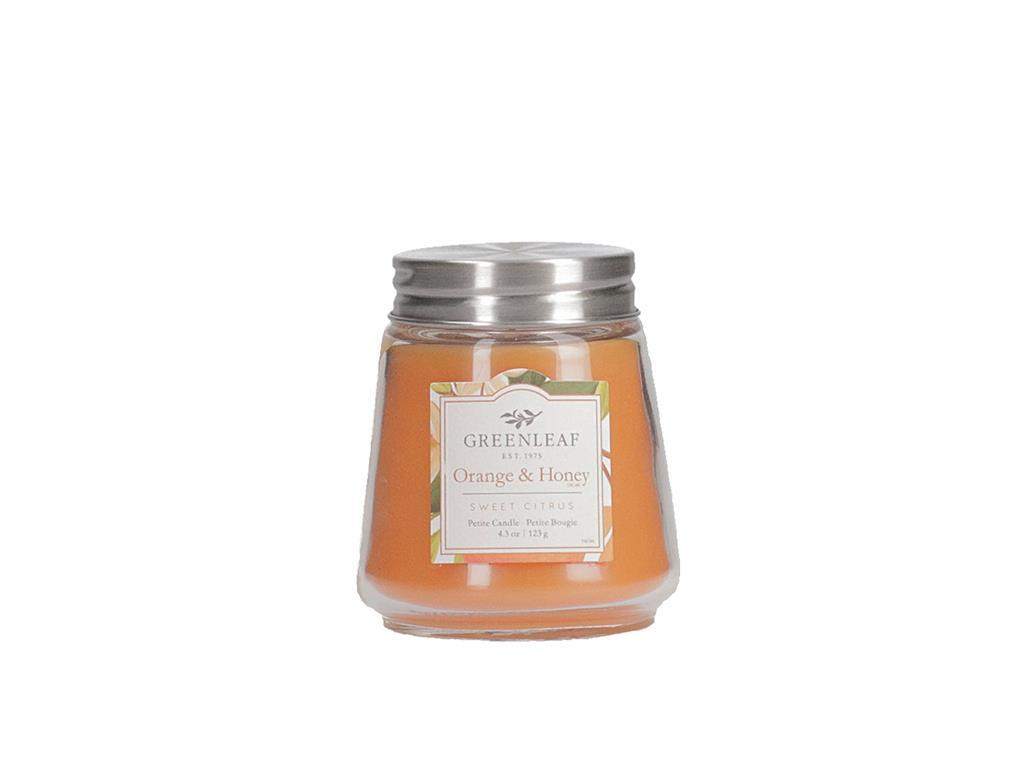 Petite Candle 4.3 oz in fragrance Orange & Honey
