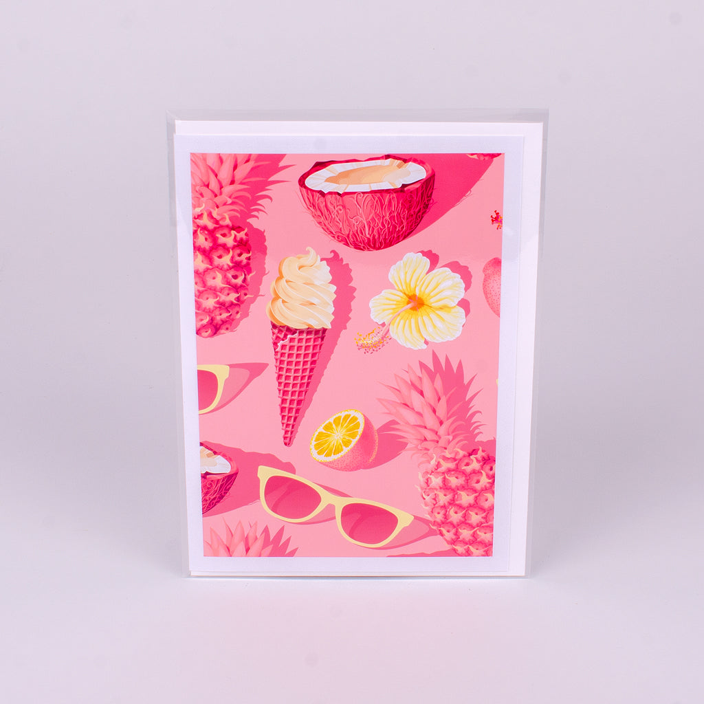 Pink Pineapple Notecard