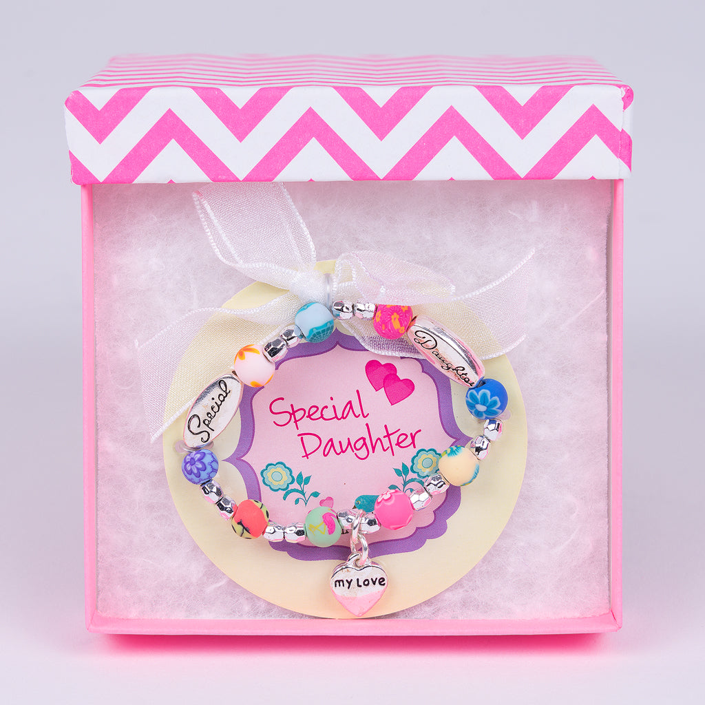 Clay Daughter Toddler Bracelet In Pink Gift Box