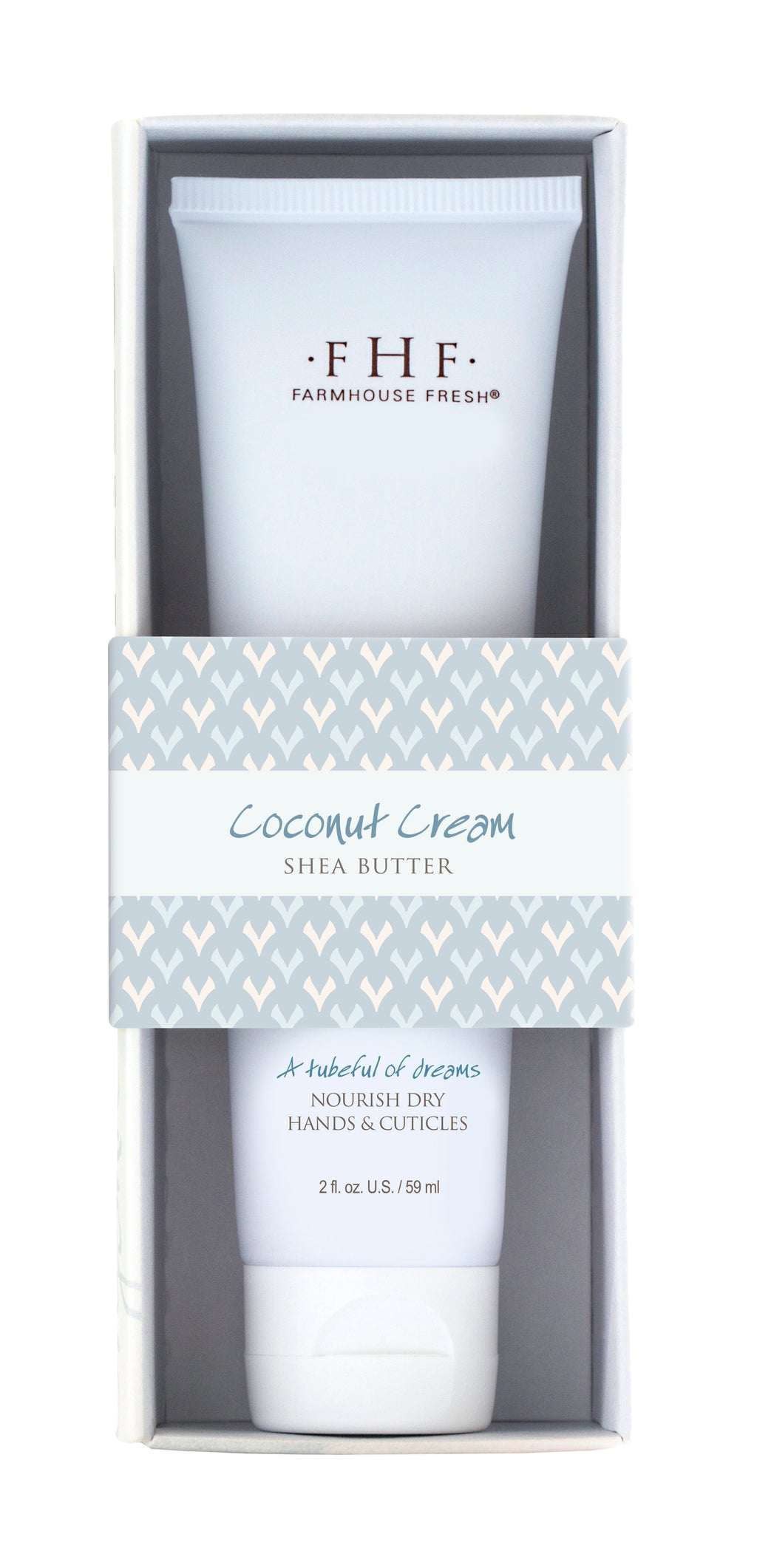 A tubeful hand cream of joy.  The tropical scent with notes of heavy cream & fresh coconut.