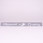 Shelf sitter sign-mermaid crossing (Gray)