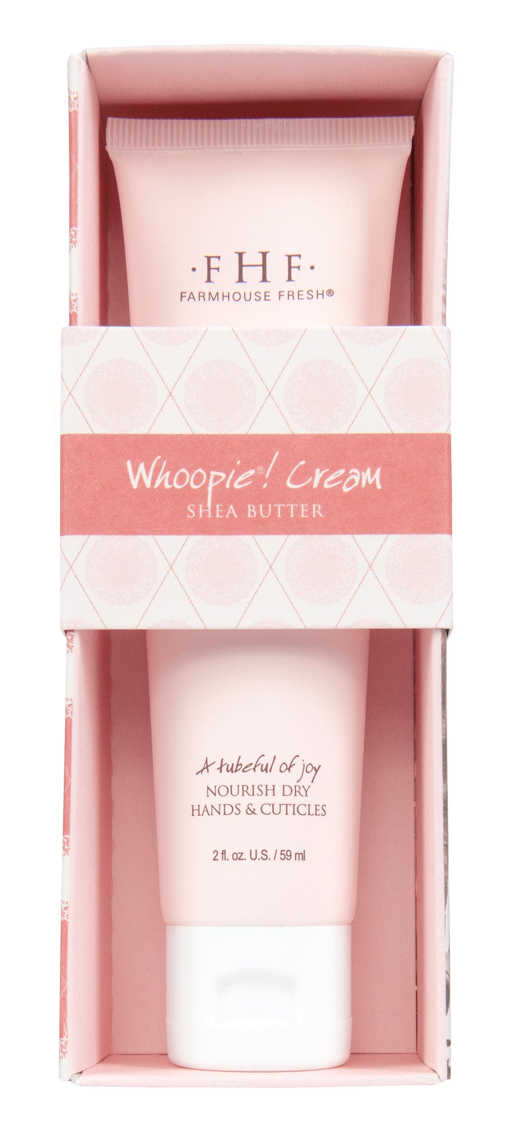 A tubeful of joy.   Drench your hands in irresistible yum!  This supple cream nourishes dry skin and has a delectable aroma of freshly baked whoopie pies.