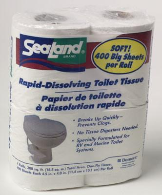SeaLand® Rapid Dissolving Toilet Tissue (Sample Size, 4 Rolls x 4 Packs)