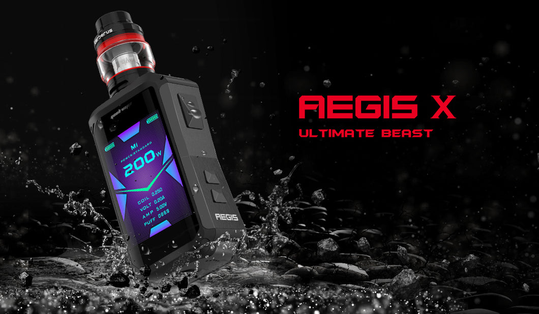 GeekVape Aegis X 200W TC Starter Kit With 4ML / 5.5ML Cerberus Tank