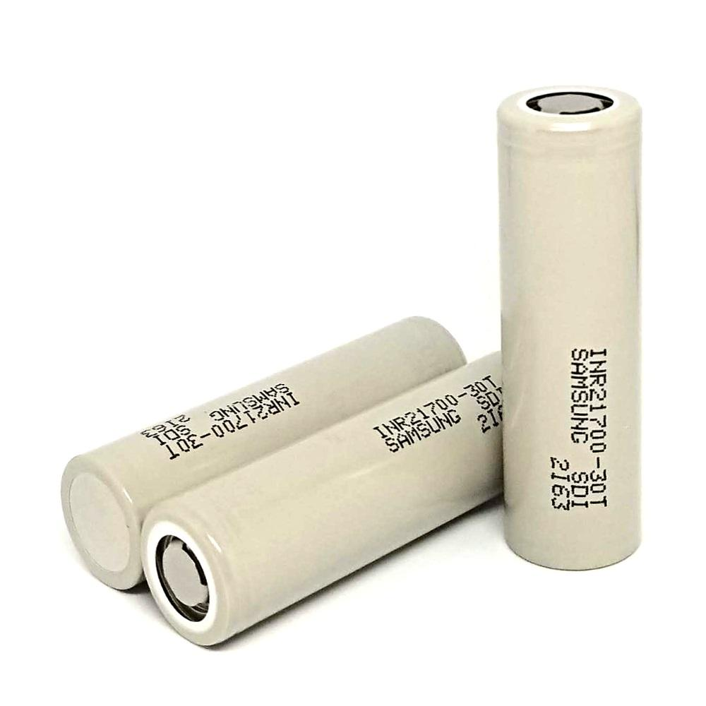 Samsung 30T 3000mAh 21700 Flat Top Battery