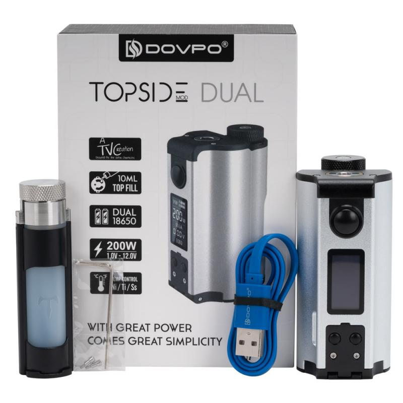 Dovpo Topside Dual 200W Squonk Mod With 10ML Squonk Bottle