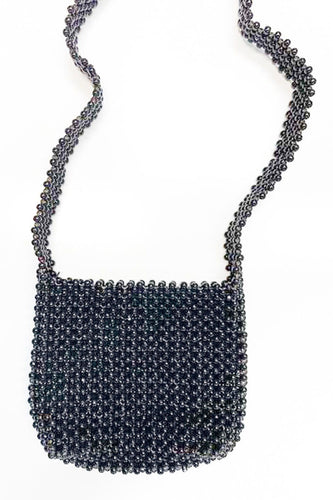 BUHO Vintage Black Beaded Bag Crossbody Bags