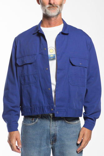 BUHO-Vintage French Chore Coat-L-XL-Blue-BUHO