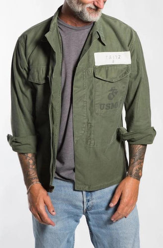 BUHO Vintage Fritz Patched Army Jacket Military Jackets