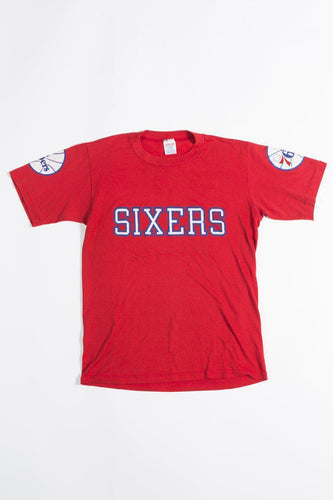 BUHO Vintage Red 76ers Tee Sports Tees
