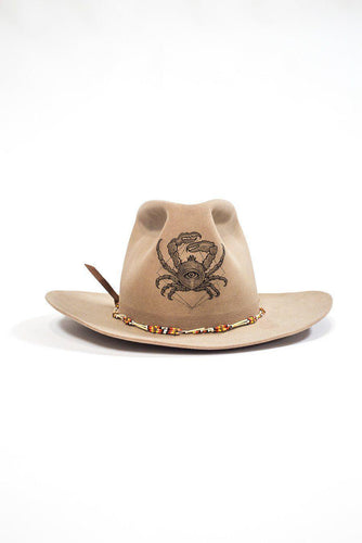 BUHO Vintage Tattooed Hat Cowboy Crab Hats