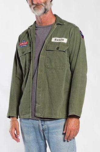 BUHO Vintage Patched Air Patrol Jacket Military Jackets
