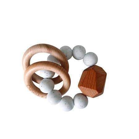 Chewable Charm Hayes Silicone + Wood Teether Ring Accessories OS Moonstone