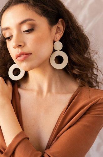 Dear Survivor Stela Earrings in Ivory Accessories