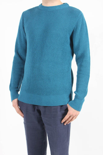 Far Afield-Joe Crew Neck-S-Ensign Blue-BUHO