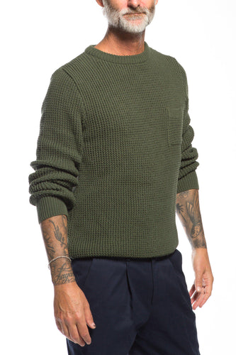 Far Afield-Joe Crew Pocket Knit-S-Green-BUHO