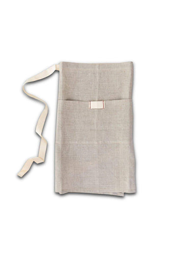 Heirloomed Collection LLC-Heirloomed Collection LLC - Heirloomed Linen Waist Apron with Pocket-default-BUHO