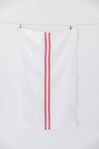 Heirloomed Collection LLC-Heirloomed Collection LLC - Holiday Collection - Red Grain Stripe Tea Towel-default-BUHO