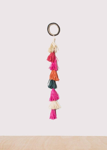 Kazi Medium Colorful Raffia Tasseled Rope Wall Decor
