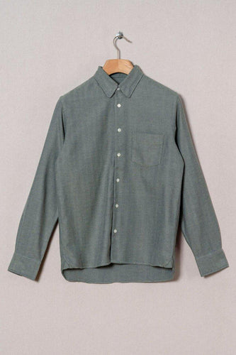 La Paz-Lopes Shirt-S-Light Green Herringbone-BUHO