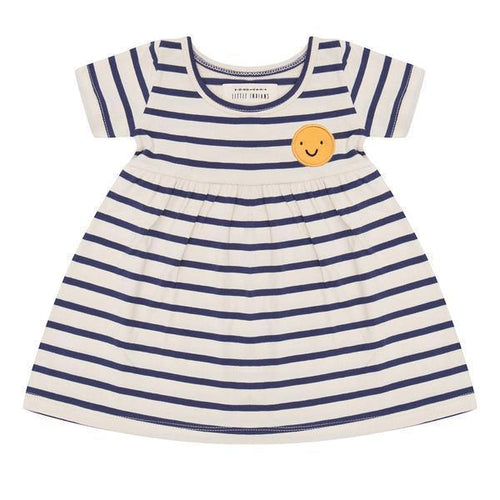 Little Indians Summer Stripe Smiley Dress Dresses