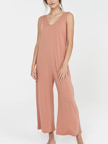MATE the label Sleep V Jumpsuit - Terracotta Jumpsuits XS Terracotta