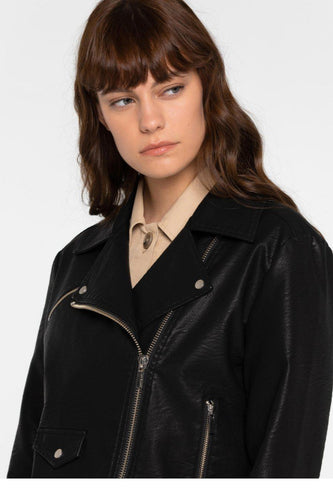 MATT & NAT-DRADEN Vegan Leather Jacket - Black-XS-BUHO