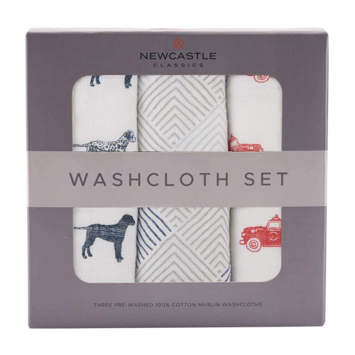 Newcastle Classics Fire Truck Washcloth Set Towels 22