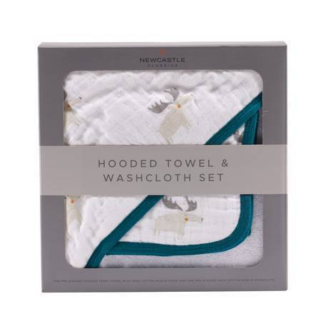 Newcastle Classics Mister Moose Hooded Towel Set Towels 35