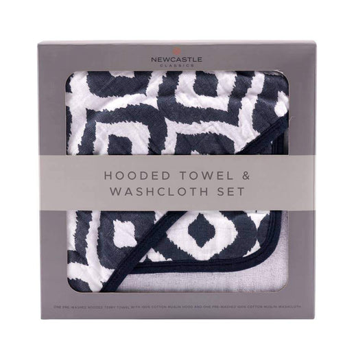 Newcastle Classics Moroccan Blue Hooded Towel Set Towels