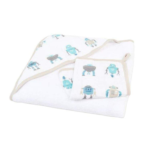 Newcastle Classics Robot Hooded Towel and Washcloth Set Towels 22