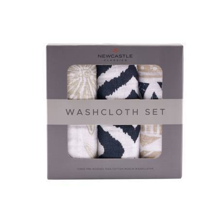 Newcastle Classics World Wanderer Washcloth Set of 3 Towels 22