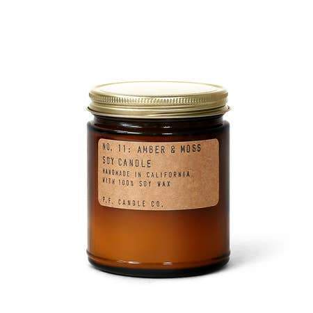 P. F. Candle Co Amber & Moss Standard Soy Candle Soy Candles 7.2 oz