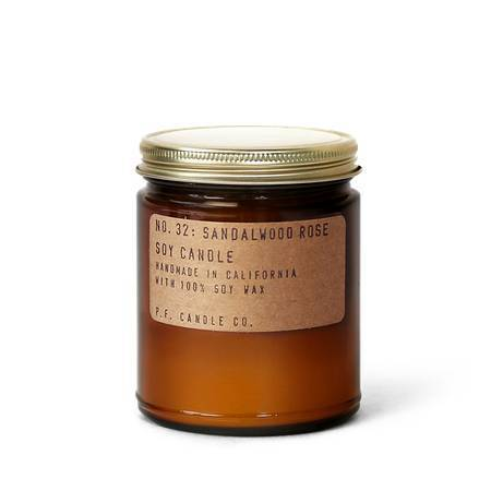 P. F. Candle Co Sandalwood Rose Standard Soy Candle Soy Candles 7.2 oz