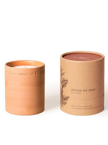 P. F. Candle Co-Western Red Cedar Terra Soy Candle-BUHO