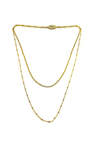 Paradigm Dune Double Chain Necklace Necklaces