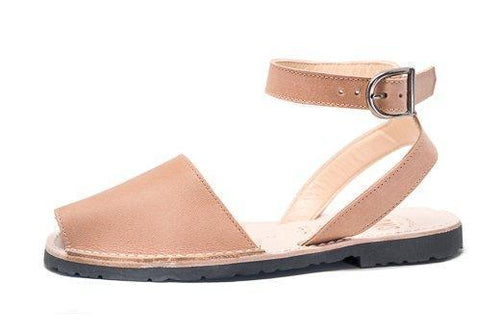PONS PONS Classic Style Strap Tan Sandals